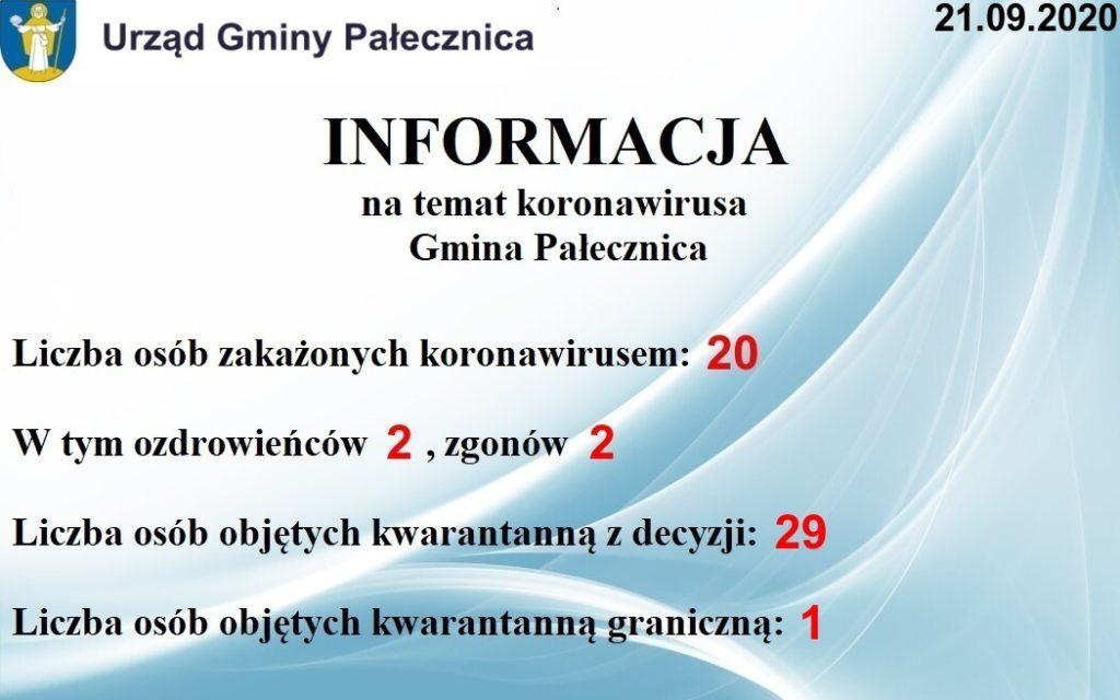 Informacja na temat koronawirusa
